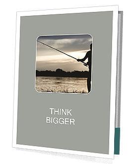 Fishing At Sunset Presentation Folder