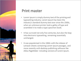 Fishing At Sunset PowerPoint Template - Slide 76