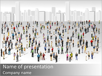 City Citizens PowerPoint Template - Slide 1