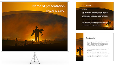 Victim PowerPoint Template