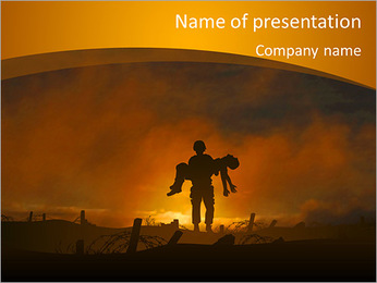 Victim PowerPoint Template - Slide 1