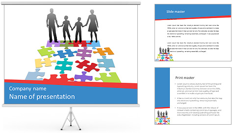 Family Puzzle PowerPoint Template