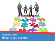 Family Puzzle PowerPoint Templates