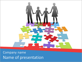 Family Puzzle PowerPoint Template - Slide 1