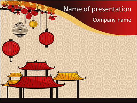 China Design Powerpoint Template Backgrounds Google Slides Id