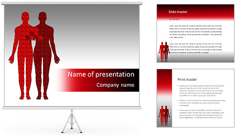 Relationship Puzzle PowerPoint Template