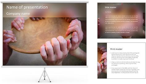 Starve Children PowerPoint Template