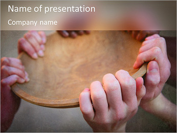 Starve Children PowerPoint Template