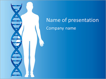 DNA PowerPoint Template - Slide 1