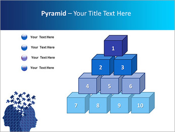 Blue Head Puzzle PowerPoint Template - Slide 11