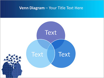 Blue Head Puzzle PowerPoint Template - Slide 13