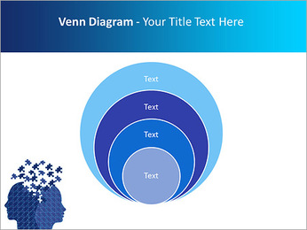 Blue Head Puzzle PowerPoint Template - Slide 14