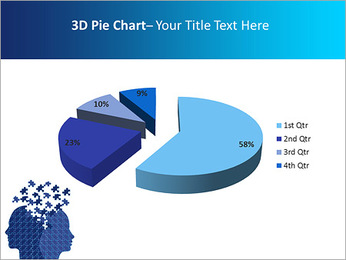 Blue Head Puzzle PowerPoint Template - Slide 15