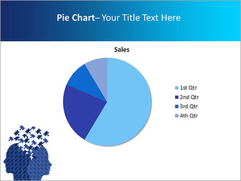Blue Head Puzzle PowerPoint Template - Slide 16