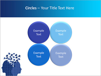 Blue Head Puzzle PowerPoint Template - Slide 18
