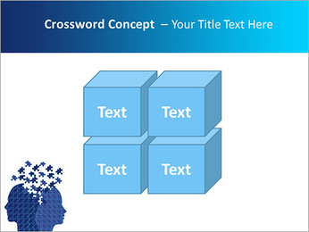 Blue Head Puzzle PowerPoint Template - Slide 19