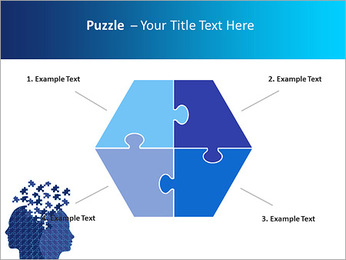 Blue Head Puzzle PowerPoint Template - Slide 20