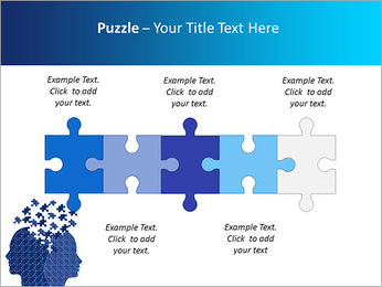 Blue Head Puzzle PowerPoint Template - Slide 21