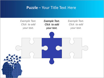 Blue Head Puzzle PowerPoint Template - Slide 22