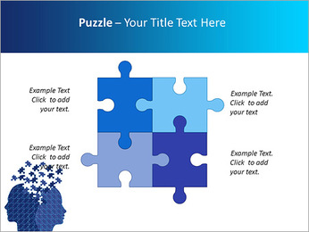 Blue Head Puzzle PowerPoint Template - Slide 23