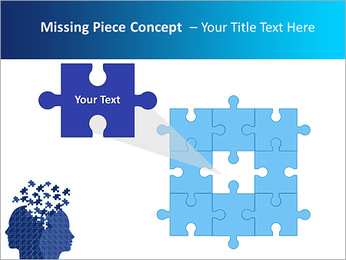 Blue Head Puzzle PowerPoint Template - Slide 25