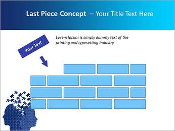 Blue Head Puzzle PowerPoint Template - Slide 26