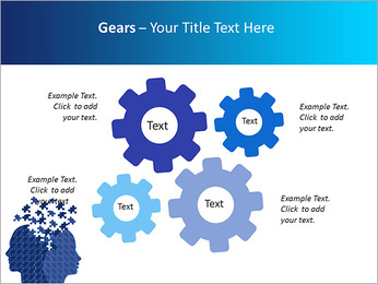 Blue Head Puzzle PowerPoint Template - Slide 27