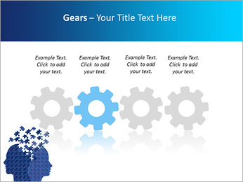 Blue Head Puzzle PowerPoint Template - Slide 28