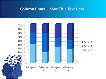 Blue Head Puzzle PowerPoint Template - Slide 30