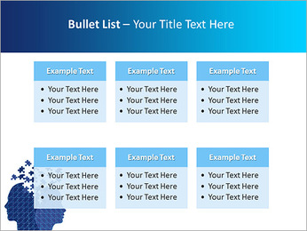 Blue Head Puzzle PowerPoint Template - Slide 36