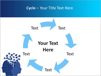 Blue Head Puzzle PowerPoint Template - Slide 42