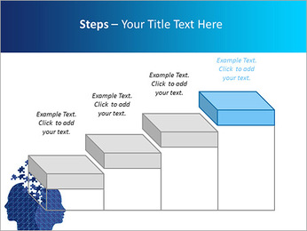 Blue Head Puzzle PowerPoint Template - Slide 44