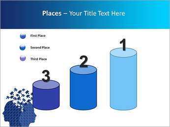 Blue Head Puzzle PowerPoint Template - Slide 45