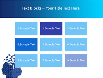 Blue Head Puzzle PowerPoint Template - Slide 48