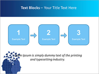 Blue Head Puzzle PowerPoint Template - Slide 51