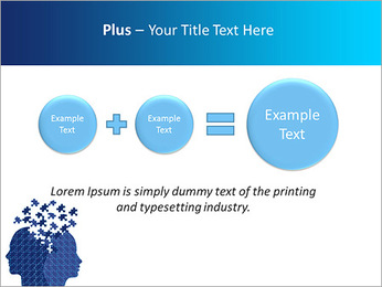 Blue Head Puzzle PowerPoint Template - Slide 55