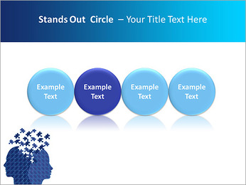 Blue Head Puzzle PowerPoint Template - Slide 56