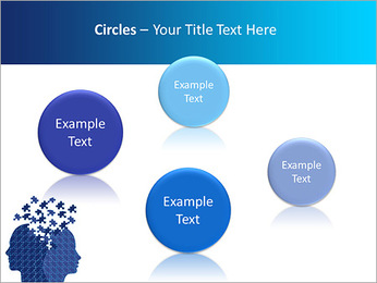 Blue Head Puzzle PowerPoint Template - Slide 57