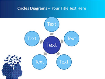 Blue Head Puzzle PowerPoint Template - Slide 58