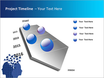 Blue Head Puzzle PowerPoint Template - Slide 6