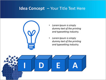 Blue Head Puzzle PowerPoint Template - Slide 60