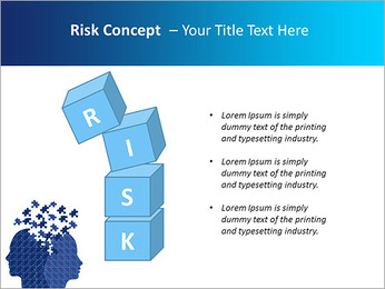 Blue Head Puzzle PowerPoint Template - Slide 61