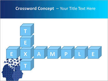 Blue Head Puzzle PowerPoint Template - Slide 62