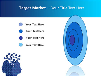 Blue Head Puzzle PowerPoint Template - Slide 64