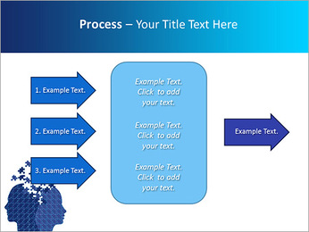 Blue Head Puzzle PowerPoint Template - Slide 65
