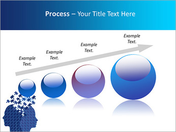 Blue Head Puzzle PowerPoint Template - Slide 67