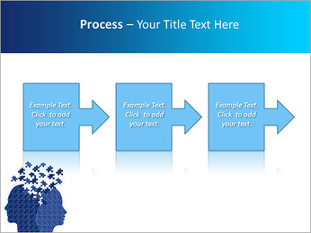 Blue Head Puzzle PowerPoint Template - Slide 68