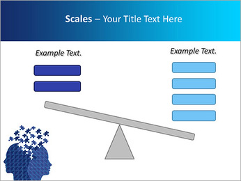 Blue Head Puzzle PowerPoint Template - Slide 69