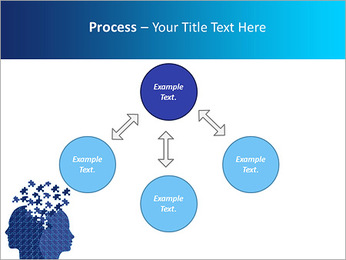 Blue Head Puzzle PowerPoint Template - Slide 71