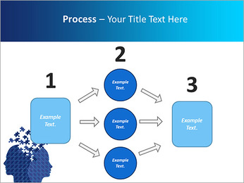 Blue Head Puzzle PowerPoint Template - Slide 72